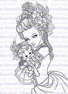 Coloring Book 2 - Aurora Wings - Fantasy Art of Mitzi Sato-Wiuff