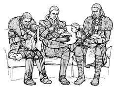 Cullen, Alistair and Anders. You know, as much as I love these guys I don't think I'd leave my kids alone with them. But it's cute nonetheless