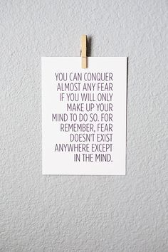 Free Inspirational Printable about Fear