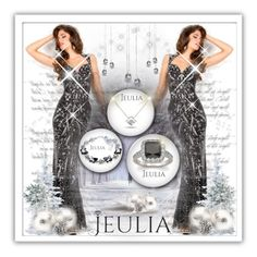"""""""Jeulia Jewelry-Black Passion.7"""" by samirhabul ❤ liked on Polyvore featuring women's clothing, women's fashion, women, female, woman, misses, juniors, black and jeulia"""