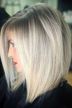 In this article, we will discuss some Popular Bob Hairstyles 2019 that you will like! Salt and pepper angled bob is a great hairstyle. Hairstyles medium Popular Bob Hairstyles 2019 - The UnderCut Bobs For Thin Hair, Short Straight Hair, Medium Length Hair Cuts Straight, Mid Length Bobs, Short Bob Hairstyles, Hairstyles 2018, Medium Straight Hairstyles, Hairstyles For Women, Wedding Hairstyles