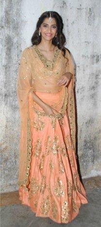 ca0857262a7ab2 I love her fashion-sense Sonam Kapoor Lehenga