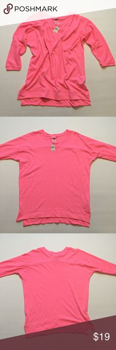 PINK Victoria's Secret Top Brand new with tag. Size small. Three quarter sleeve. Jersey style. 60% cotton 40% polyester. PINK Victoria's Secret Tops