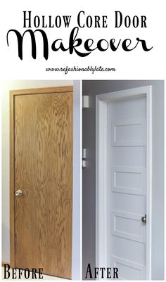 Hollow Core Doors · Door Makeover · Husband · This Post Has Been A Long  Time Coming And I Couldnu0027t Be Happier With