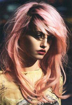 Morning Glory Pink Hair Chalk, Hair Tint, Hair Stain, Ombre Hair, Rainbow Hair, Festival Paint, DIY Temporary hair color, Reverse Ombre Hair. $12.00, via Etsy.
