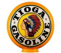 RARE Original Tioga Gas Globe - Original Orange Ripple Gill Body