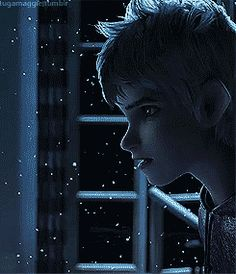 Look how tears are forming in his eyes...and then his gasp of happiness, it's just amazing how much emotion they put into Jack Frost (gif)