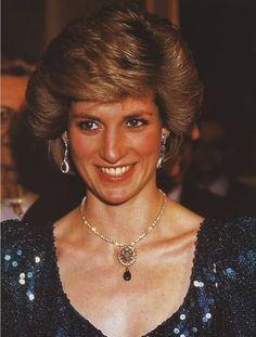 October 14, 1986 Princess Diana attends a gala at the Vienna Burgh Theatre in Vienna, Austria