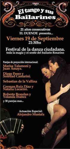 """Rosario: El Duende presenta """"El Tango y sus Bailarines"""" en su 21º año"""