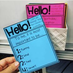 How to Use Student Data Notebooks to Boost Your Classroom Culture – Adrienne Teaches Morning Meeting Activities, First Day Of School Activities, 1st Day Of School, Beginning Of The School Year, Morning Meetings, Morning Meeting First Grade, Middle School, Morning Work, High School
