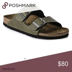 186617e0a93 Birkenstock Sandals Dark green Birkenstocks with a double soft strap.  Comfortable and gently worn. I m usually a size 6 and these are a size 5  and fit me ...