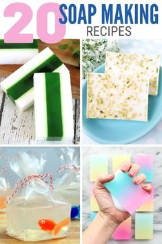 You can make handmade soap for yourself or as a gift. Click here for 20 Easy Melt and Pour Soap Recipes each with a complete tutorial! #thecraftyblogstalker #soapmakingrecipes #DIYsoap #soapmaking Soap Making Recipes, Soap Recipes, Cute Crafts, Diy Crafts, Peppermint Soap, Lemon Soap, Coconut Soap, Soap Tutorial, Diy Craft Projects