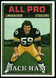 LLB Steeler 1971 1982 Jack Ham was inducted into the National Polish-American Sports Hall of Fame in Pitsburgh Steelers, Pittsburgh Steelers Football, Pittsburgh Sports, Steelers Stuff, Football Trading Cards, Football Cards, Football Players, American Athletes, American Sports