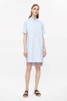 Grosgrain detail shirt dress