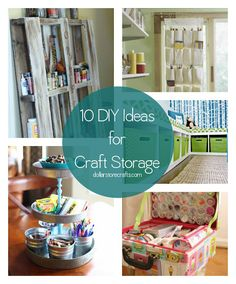 '10 Ideas to Organize Your Craft Room (or closet, or corner)...!' (via Dollar Store Crafts)