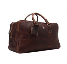 Handcrafted Vintage Genuine Leather Travel Bag Holdall Weekend Bag Luggage Bag(M03)