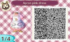Apron dress. Trying out the designs from acnl book, with a few changes :)