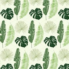 Palm leaves by GooseFrol on @creativemarket