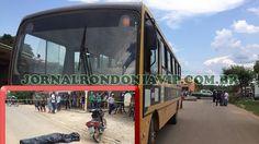 Trânsito; Idoso morre após acidente envolvendo ônibus escolar