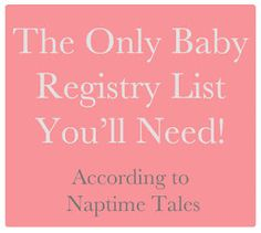 Must - Have - Registry List