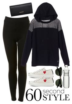 """""""Contest - 60 Second Style: Yoga Pants"""" by keisha-xo ❤ liked on Polyvore featuring Topshop, Play Comme des Garçons, Ray-Ban, Sagaform and Mulberry"""