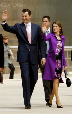 Princesse Letizia et Prince Felipe. Pretty picture for Princesse Letizia.
