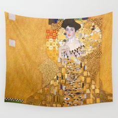 Buy Gustav Klimt - The Woman in Gold Wall Tapestry by constantchaos. Worldwide shipping available at Society6.com. Just one of millions of high quality products available.