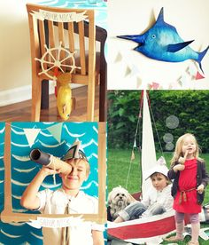 pirate sailor birthday party >> possibly not pc to have a pirate / pirate wench party to include the girls!!