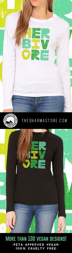Are you looking for a 100% cruelty free vegan clothing brand? We have everything you need!  vegan t-shirts, vegan long sleeve shirts, vegan tank tops, leggings and more! Check us out at thedharmastore.com