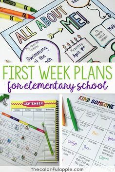 A full week of back to school lesson plans for free! Includes all links to activities and resources. This made organizing my first week of school so much easier. A great find!