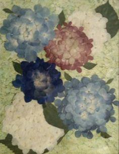 Dry Flowers, Pressed Flower Art, Botanical Art, Flower Crafts, Hydrangea, Painting, Image, Dried Flowers, Flower Preservation