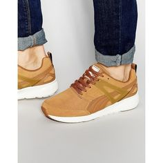 Puma Aril Suede Sneakers (115 CAD) ❤ liked on Polyvore featuring men's fashion, men's shoes, men's sneakers and brown