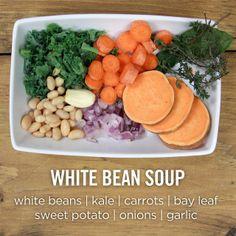 30-Minute Tuscan White Bean Soup | Soups | Pinterest | White Bean Soup ...
