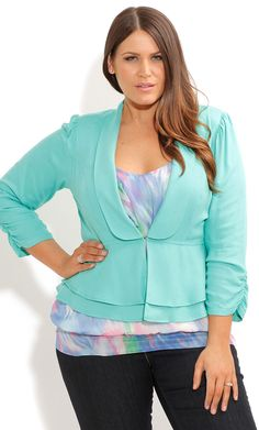 City Chic - DRAPEY COOL JACKET - Women's plus size fahsion