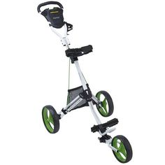 Bag Boy Express DLX Pro Golf Push Cart - White/Lime