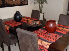 Afrikaanse tafellopers - African table runners