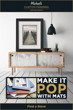 MAKE artwork pop with custom mats from #Michaels. Add color and dimension with custom fitted mats that enhance any size #artwork. Give your art the stage it deserves at the Michaels custom framing counter!