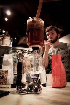 Brewing on the Yama Siphon at one of our Prima Coffee Barista Bashes.