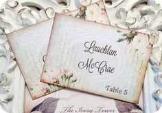 NEW  Personalized Pale Blue with Flowers by LittlePaperFarmhouse, $24.95