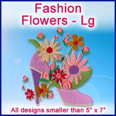 A Fashion Flowers Design Pack - Lg