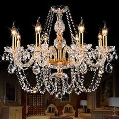 [ $27 OFF ] Modern Crystal Chandelier Led Hanging Lighting European Style Glass Chandeliers Light For Living Dining Room Restaurant Decor