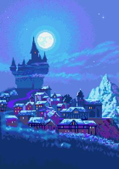 pixel scenery