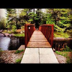 Washago, Ontario Great Memories, Staycation, Garden Bridge, Ontario, Sidewalk, Outdoor Structures, Places, Check, Walkway