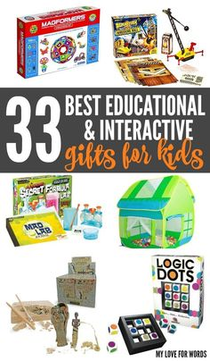 So many great Educational and Interactive Toys for Kids! STEM and STEAM gifts, arts and crafts, nature gifts, and games. Educational Toys For Toddlers, Learning Toys, Activities For Kids, Educational Activities, Toddler Gifts, Toddler Toys, Gifts For Kids, Toys For Boys, Kids Toys