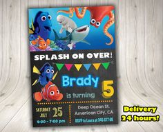 Finding Dory Invitation Finding Dory Birthday by DecorationsLeon