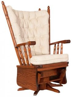You'll save on every piece of furniture at Amish Outlet Store! We custom make every item so you can get the Highback Swivel Glider in any wood and stain you choose. Glider Rocker Cushions, Glider Rocking Chair, Glider Recliner, Amish Rocking Chairs, Bentwood Rocker, Bed Frame With Storage, Amish Furniture, Diy Wall Decor, Home Decor