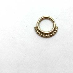Septum Piercings - Cool Breeze - 14k Gold Septum Ring - Modern, minimalist shape, it makes an elegant septum piercing that will easily compliment any mood and outfit. You'll just love wearing it!