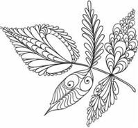 Embroidery patterns, many of which could also be quilling patterns or transfers!