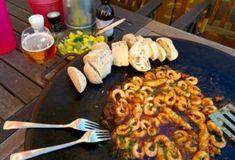 Stekman's sticky hot shrimps Garam Masala, Naan, Coleslaw, Prosecco, Kimchi, Palak Paneer, Risotto, Shrimp, Chili