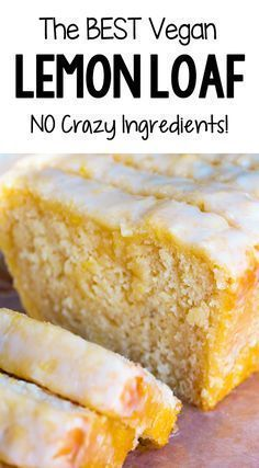 The Best Soft Fluffy Vegan Lemon Loaf Recipe - How to make soft and moist vegan. - Food&Recipes - The Best Soft Fluffy Vegan Lemon Loaf Recipe – How to make soft and moist vegan lemon bread for - Vegan Treats, Vegan Foods, Vegan Dishes, Diet Foods, Vegan Snacks, Diet Meals, Protein Snacks, High Protein, Loaf Recipes